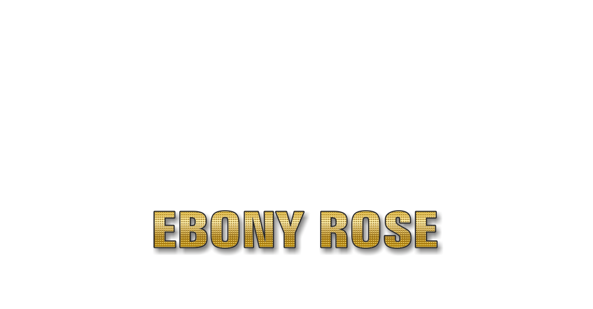 Happy Birthday Ebony Rose Personalized Card for celebrating