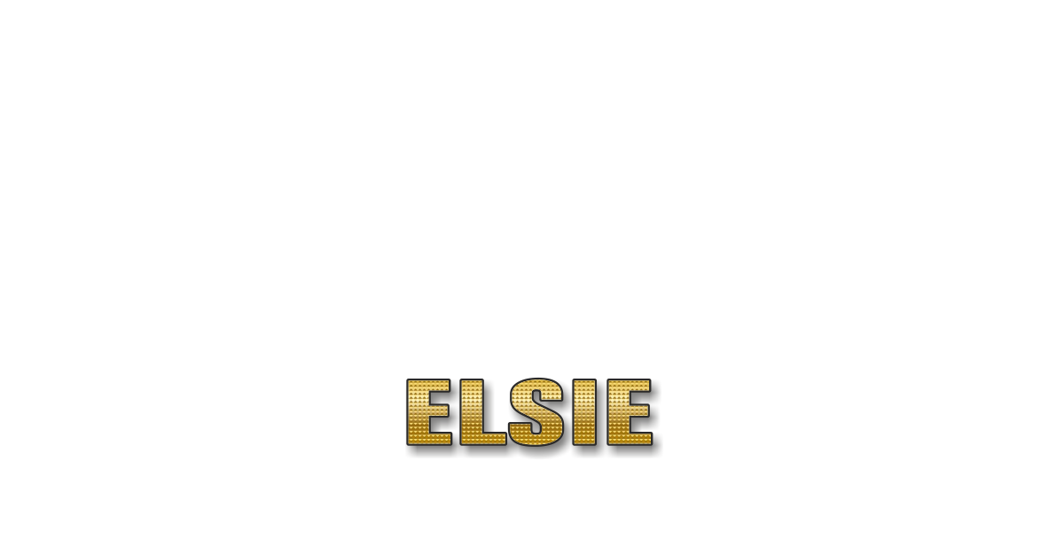 Happy Birthday Elsie Personalized Card for celebrating