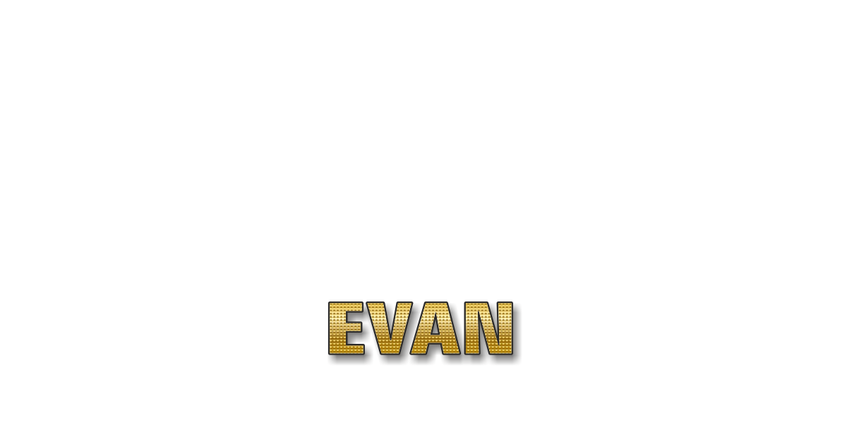 Happy Birthday Evan Personalized Card for celebrating