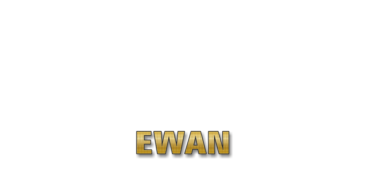Happy Birthday Ewan Personalized Card for celebrating