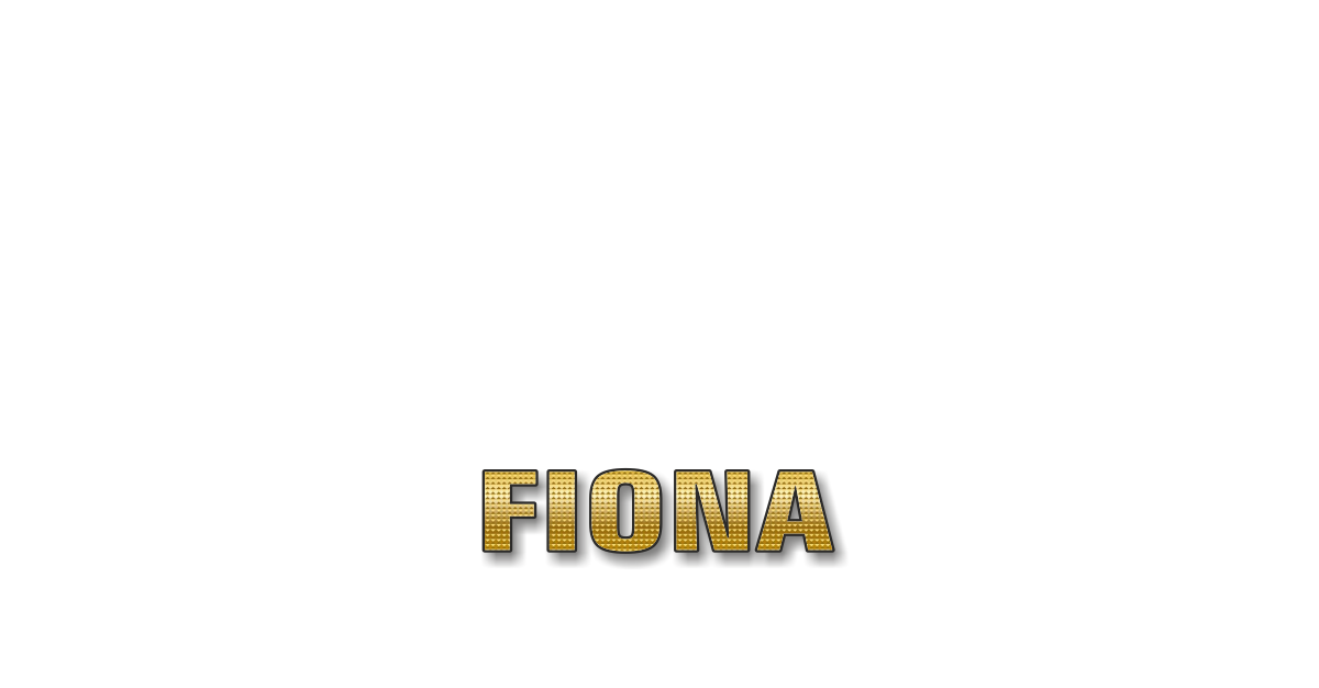Happy Birthday Fiona Personalized Card for celebrating