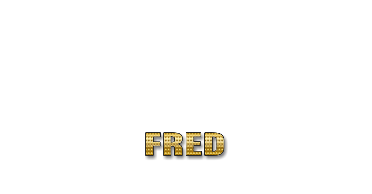 Happy Birthday Fred Personalized Card for celebrating