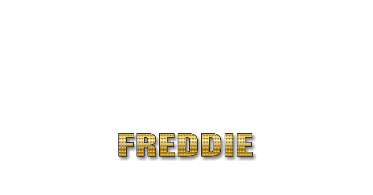 Happy Birthday Freddie Personalized Card for celebrating