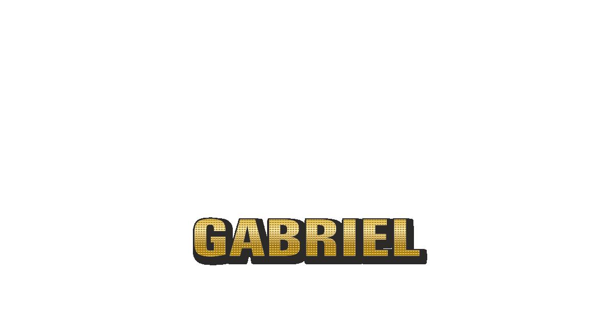 Happy Birthday Gabriel Personalized Card for celebrating