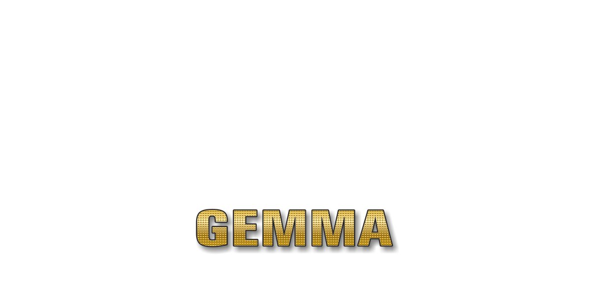Happy Birthday Gemma Personalized Card for celebrating