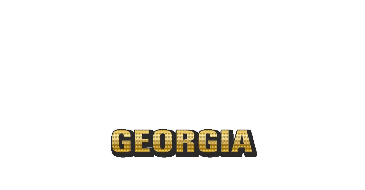Happy Birthday Georgia Personalized Card for celebrating