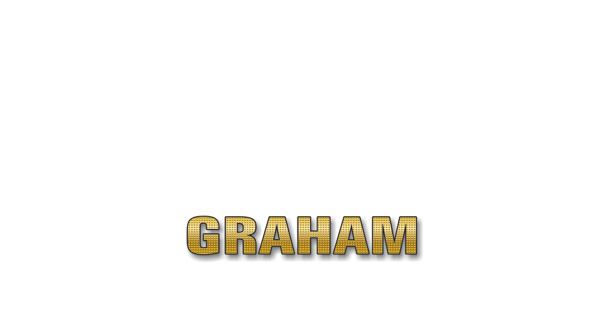 Happy Birthday Graham Personalized Card for celebrating