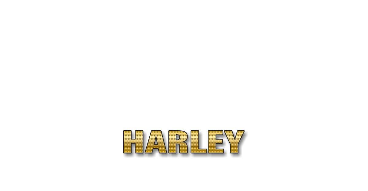 Happy Birthday Harley Personalized Card for celebrating