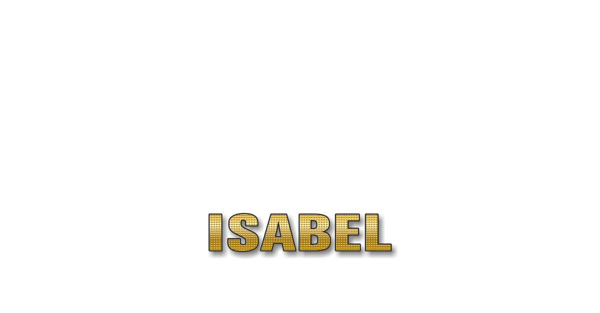 Happy Birthday Isabel Personalized Card for celebrating