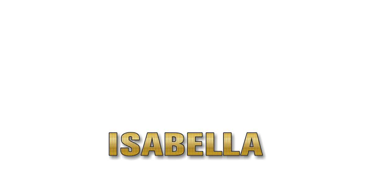 Happy Birthday Isabella Personalized Card for celebrating