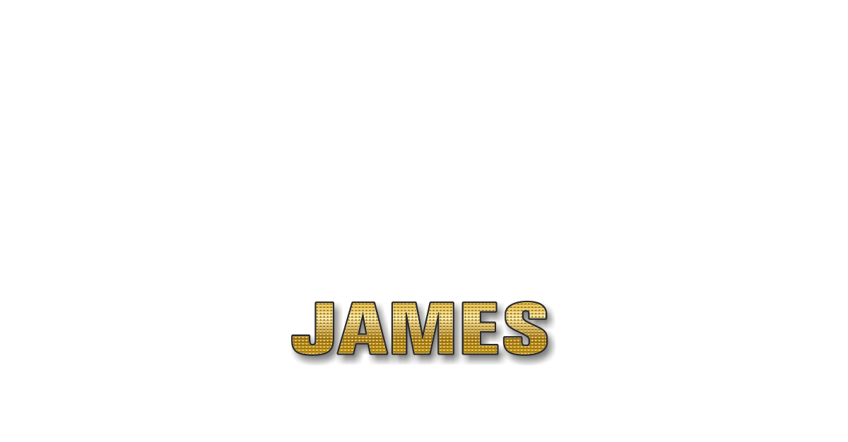 Happy Birthday James Personalized Card for celebrating