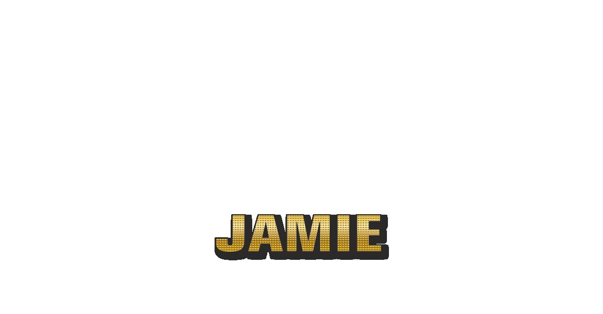 Happy Birthday Jamie Personalized Card for celebrating