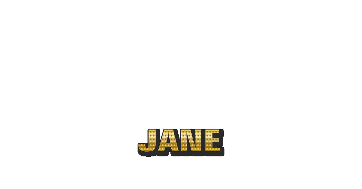 Happy Birthday Jane Personalized Card for celebrating
