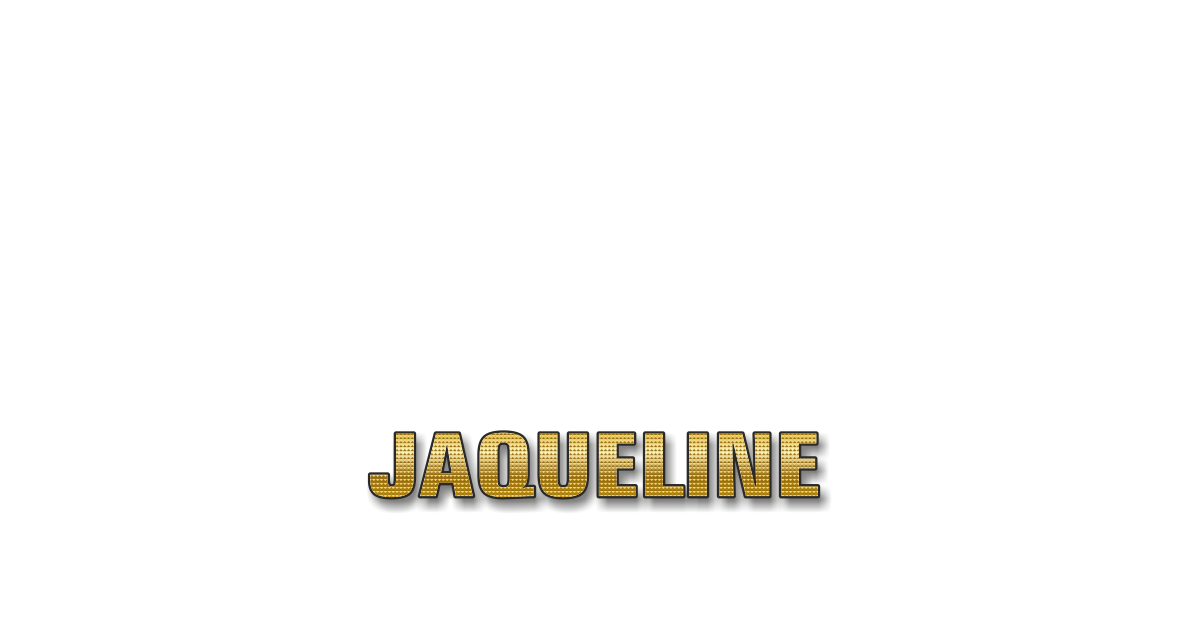 Happy Birthday Jaqueline Personalized Card for celebrating