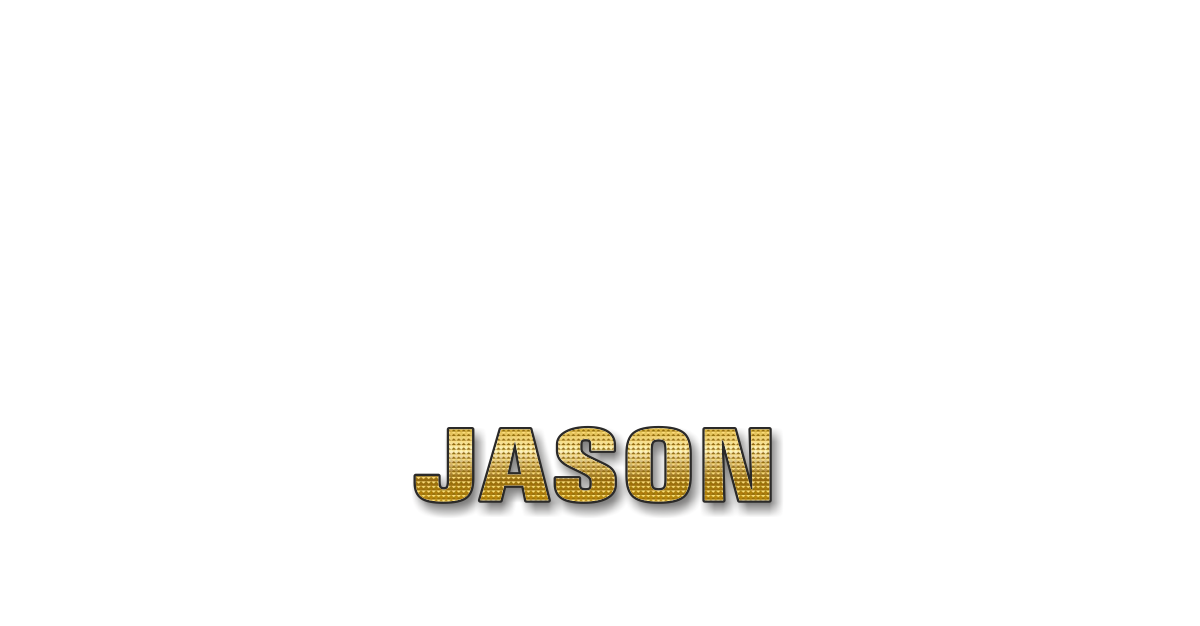 Happy Birthday Jason Personalized Card for celebrating