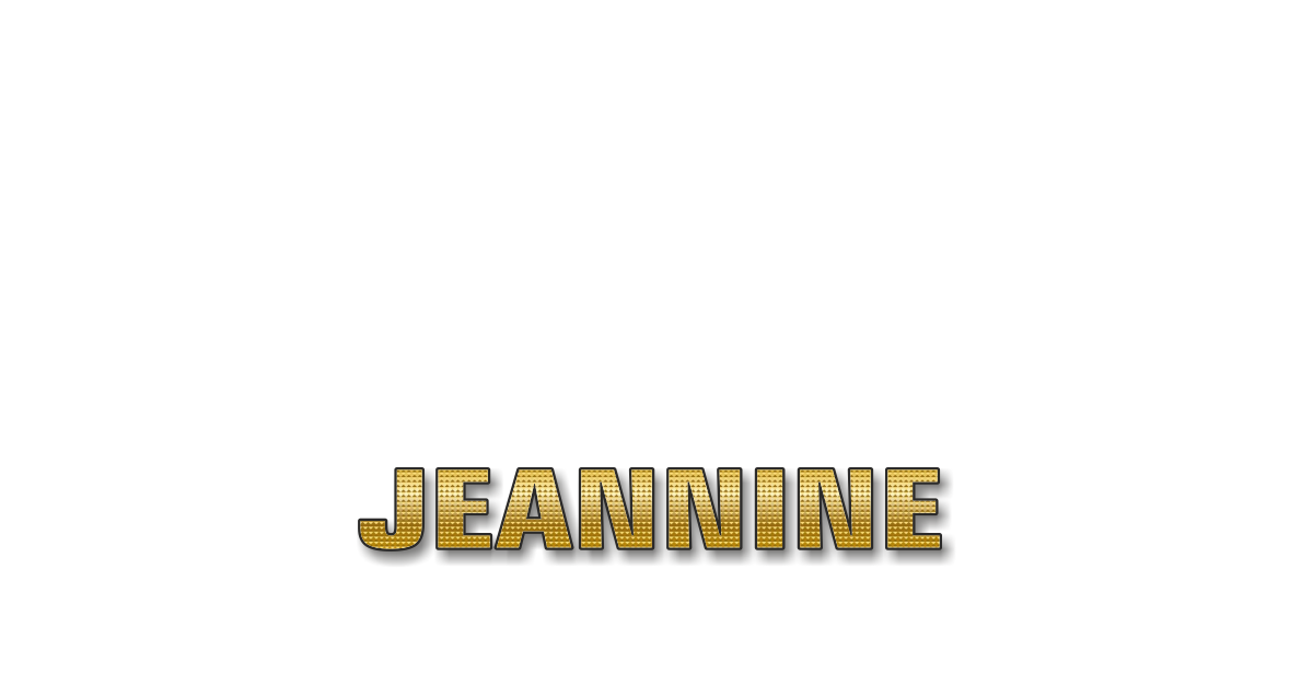 Happy Birthday Jeannine Personalized Card for celebrating