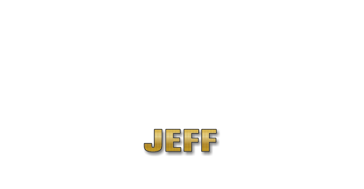 Happy Birthday Jeff Personalized Card for celebrating