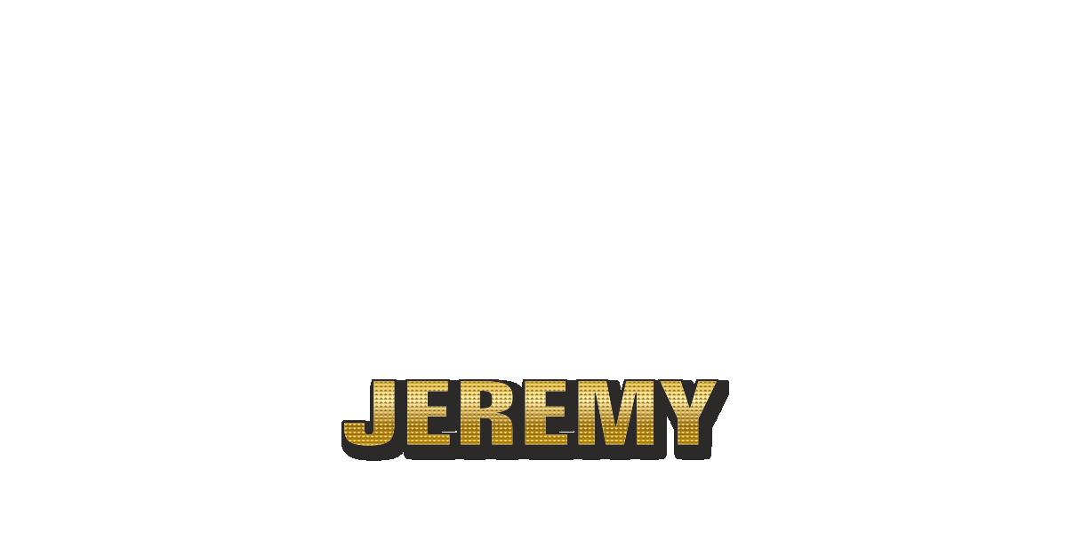 Happy Birthday Jeremy Personalized Card for celebrating