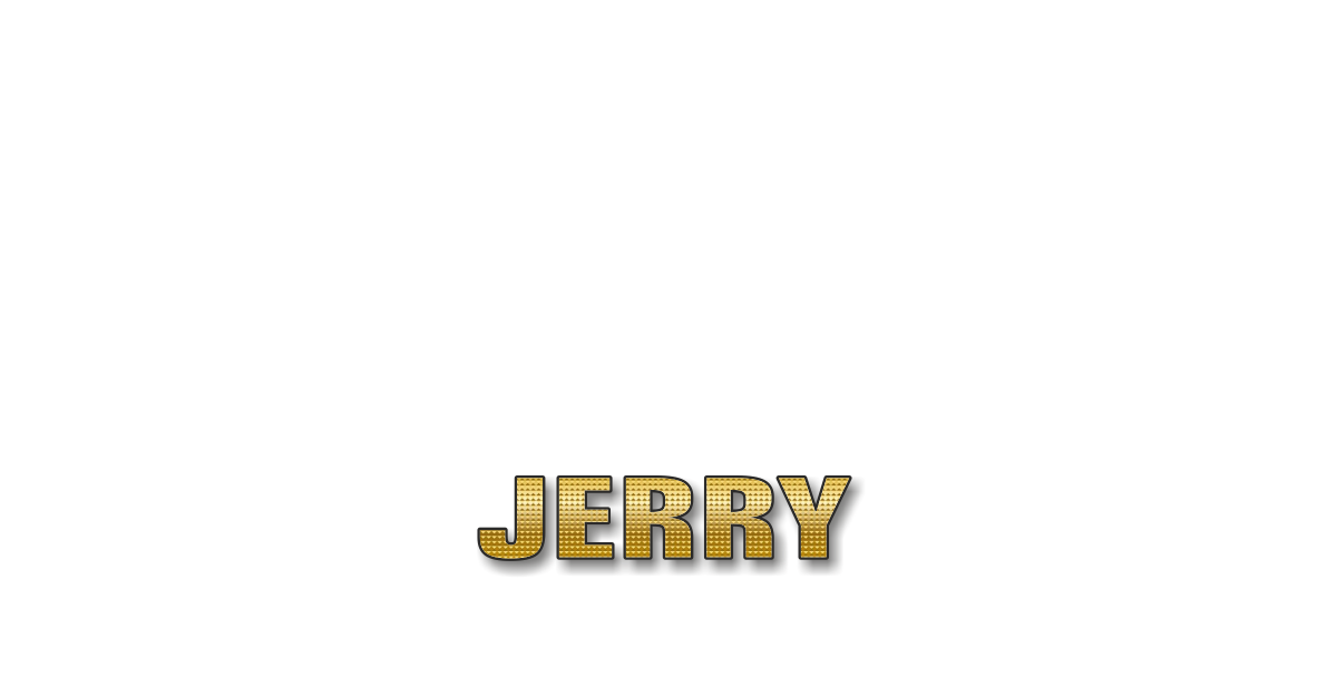 Happy Birthday Jerry Personalized Card for celebrating