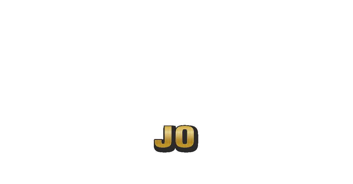 Happy Birthday Jo Personalized Card for celebrating