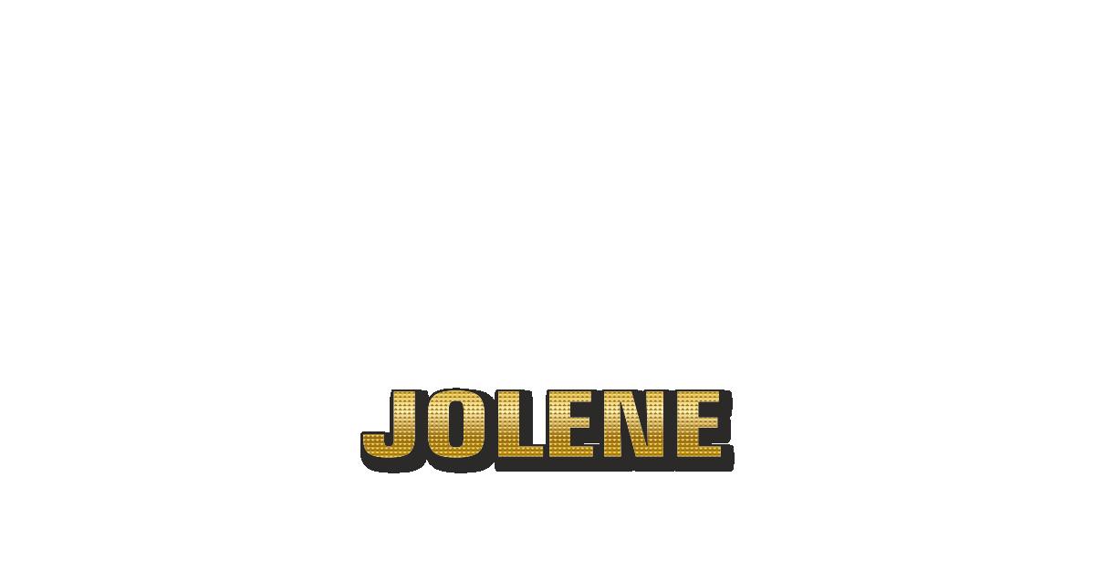 Happy Birthday Jolene Personalized Card for celebrating