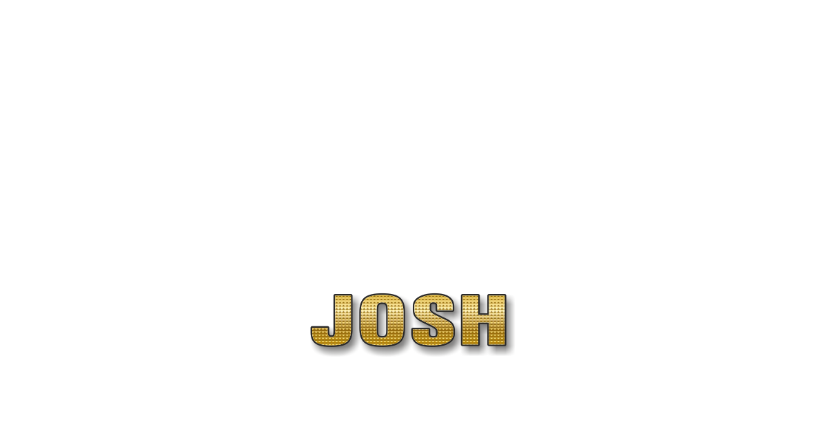 Happy Birthday Josh Personalized Card for celebrating