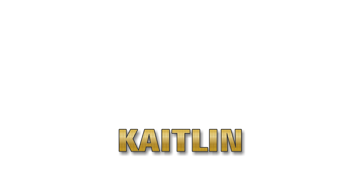 Happy Birthday Kaitlin Personalized Card for celebrating