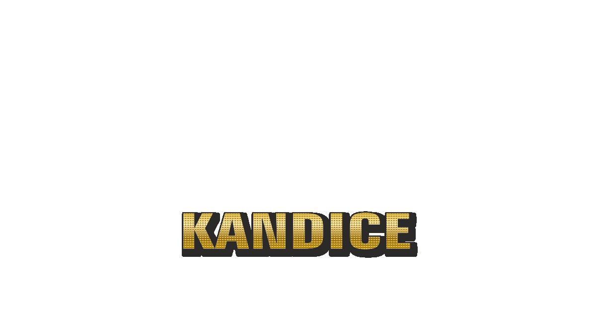 Happy Birthday Kandice Personalized Card for celebrating