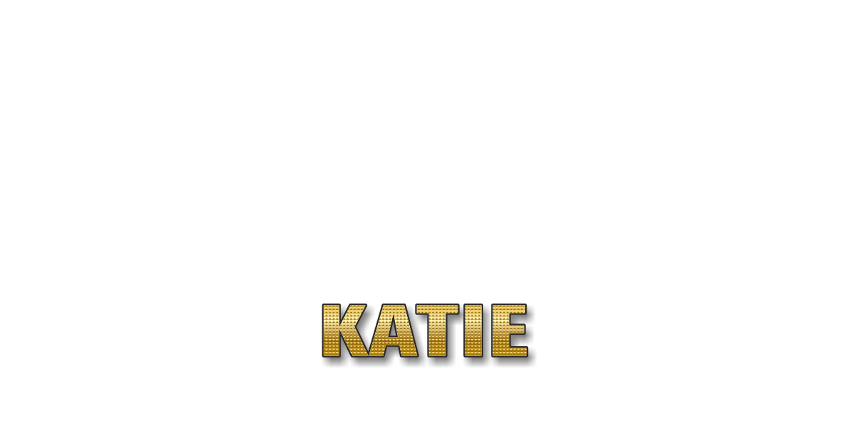 Happy Birthday Katie Personalized Card for celebrating