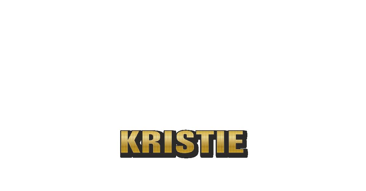 Happy Birthday Kristie Personalized Card for celebrating