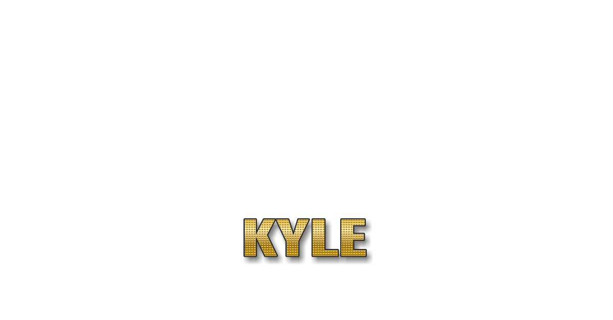 Happy Birthday Kyle Personalized Card for celebrating