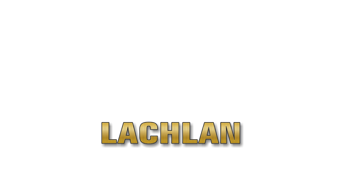 Happy Birthday Lachlan Personalized Card for celebrating
