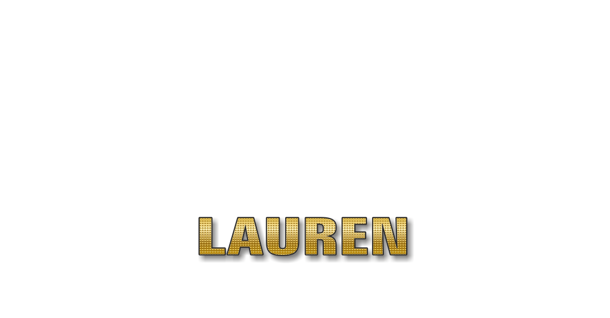 Happy Birthday Lauren Personalized Card for celebrating