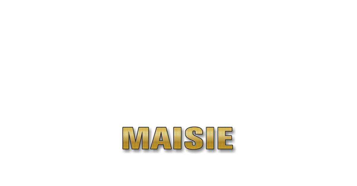 Happy Birthday Maisie Personalized Card for celebrating