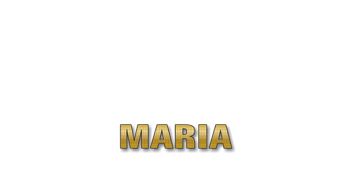 Happy Birthday Maria Personalized Card for celebrating