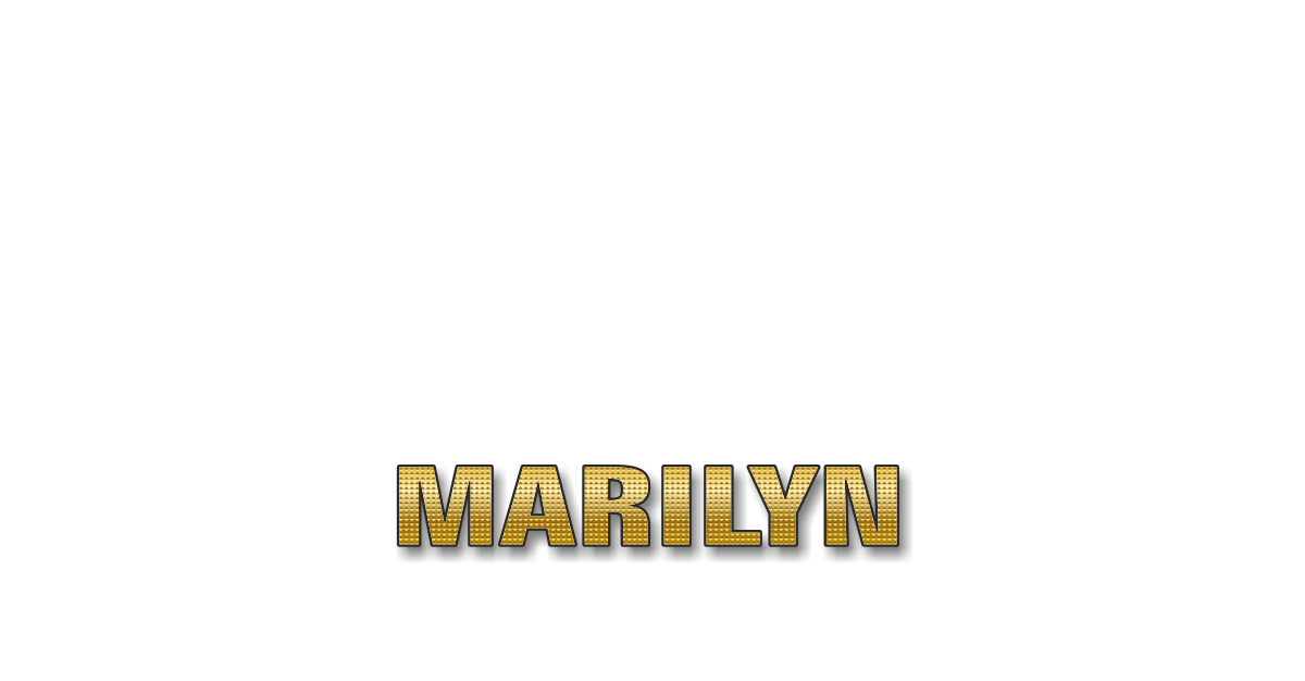 Happy Birthday Marilyn Personalized Card for celebrating