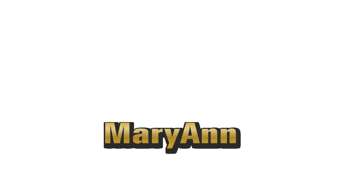 Happy Birthday MaryAnn Personalized Card for celebrating