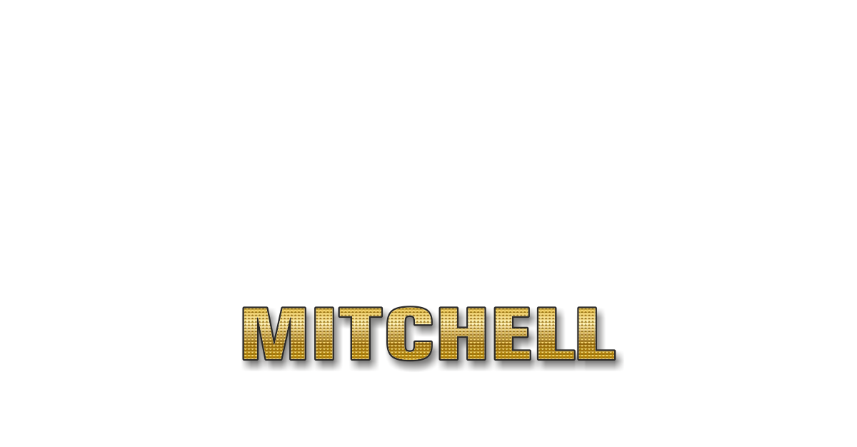 Happy Birthday Mitchell Personalized Card for celebrating