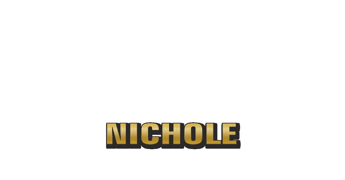 Happy Birthday Nichole Personalized Card for celebrating