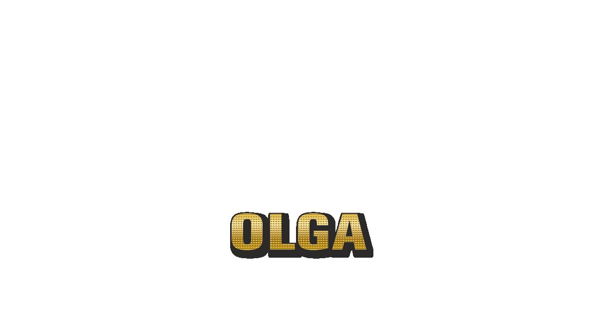 Happy Birthday Olga Personalized Card for celebrating