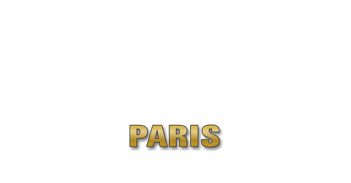 Happy Birthday Paris Personalized Card for celebrating