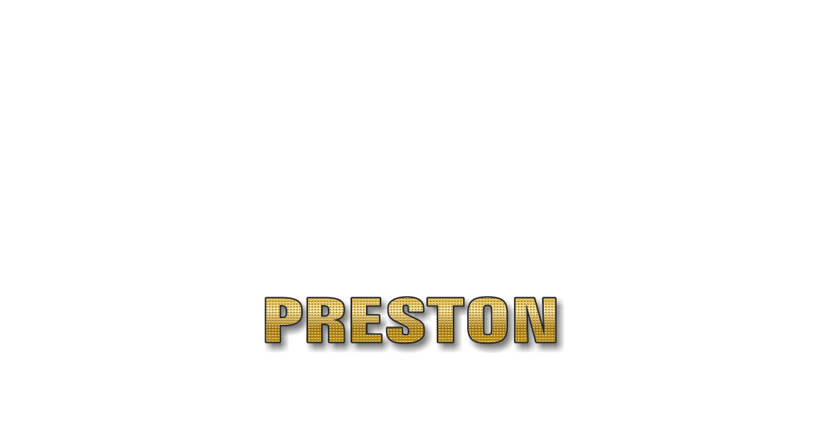 Happy Birthday Preston Personalized Card for celebrating