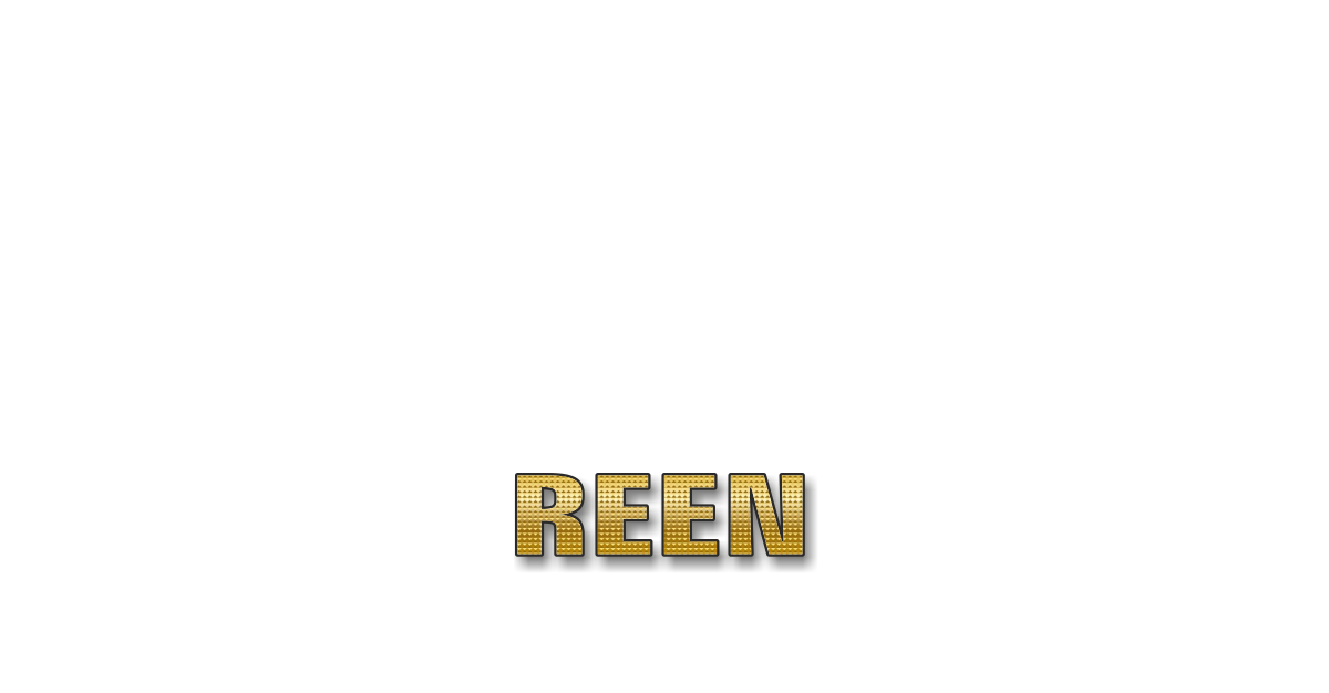 Happy Birthday Reen Personalized Card for celebrating
