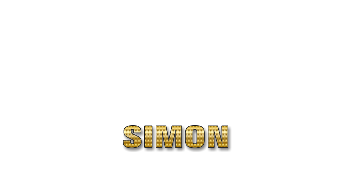 Happy Birthday Simon Personalized Card for celebrating