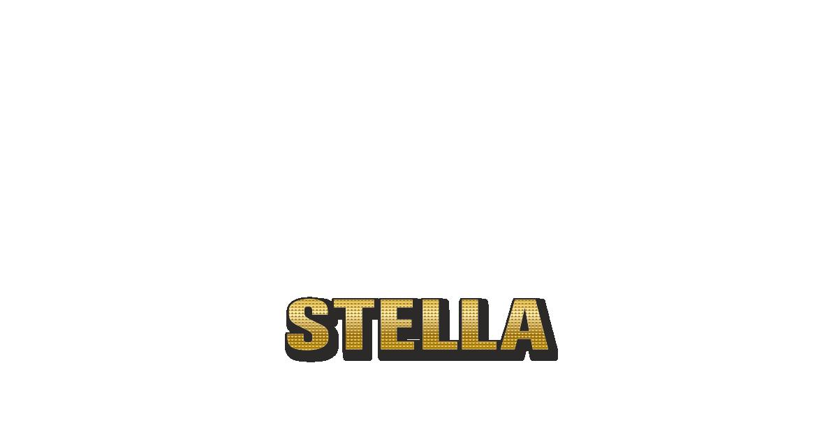 Happy Birthday Stella Personalized Card for celebrating