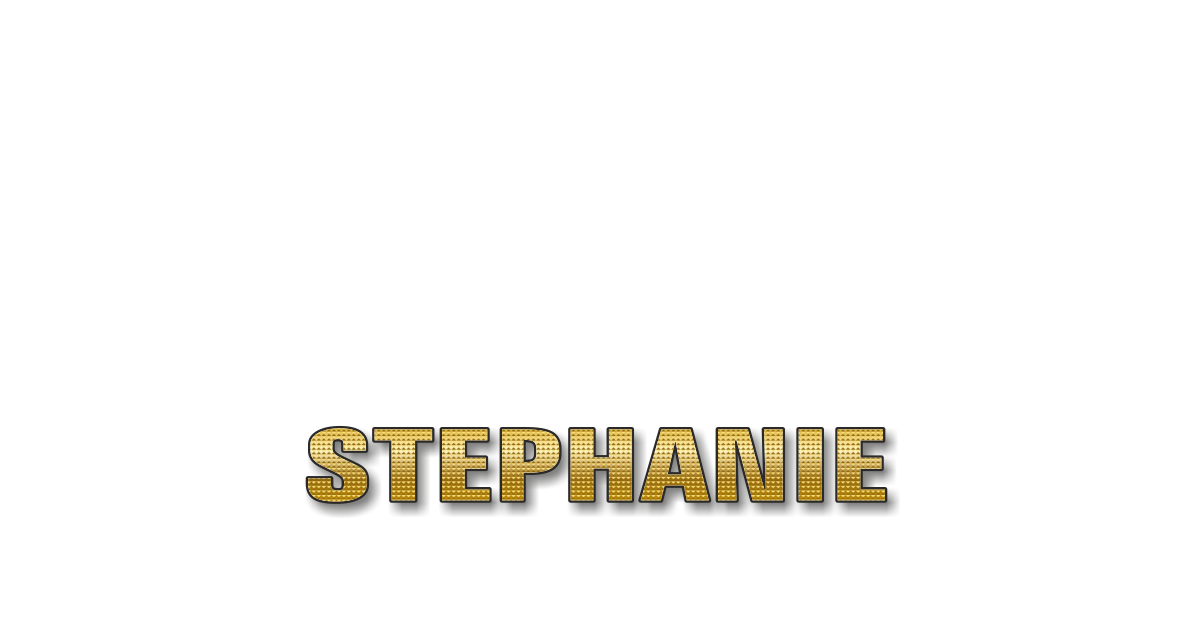Happy Birthday Stephanie Personalized Card for celebrating