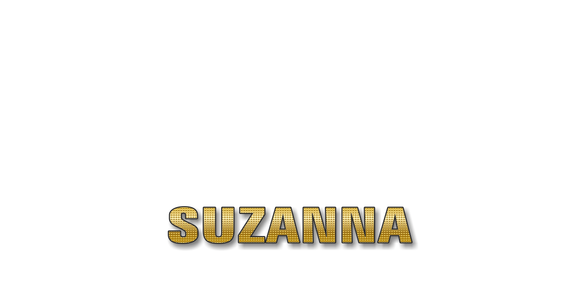 Happy Birthday Suzanna Personalized Card for celebrating