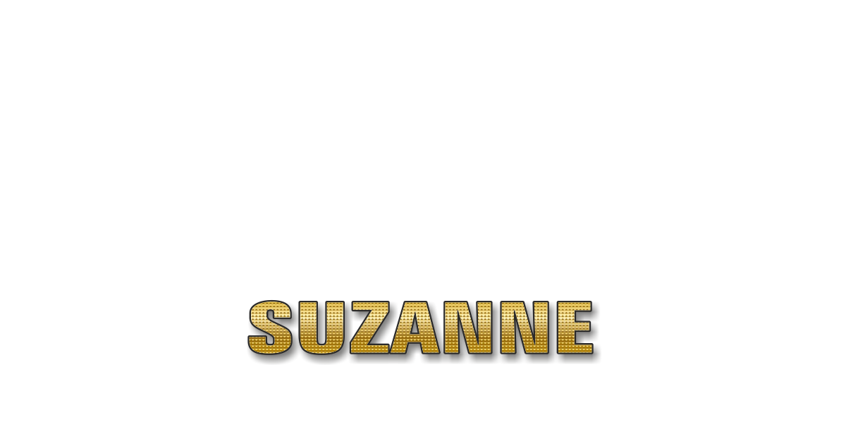 Happy Birthday Suzanne Personalized Card for celebrating