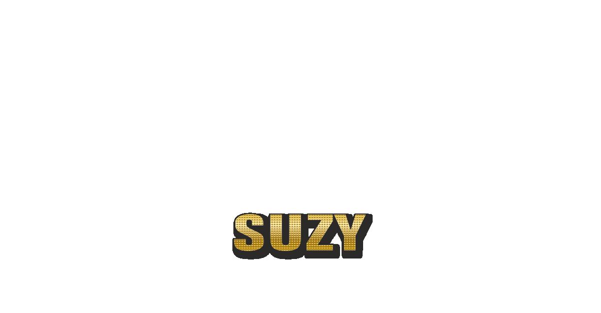 Happy Birthday Suzy Personalized Card for celebrating