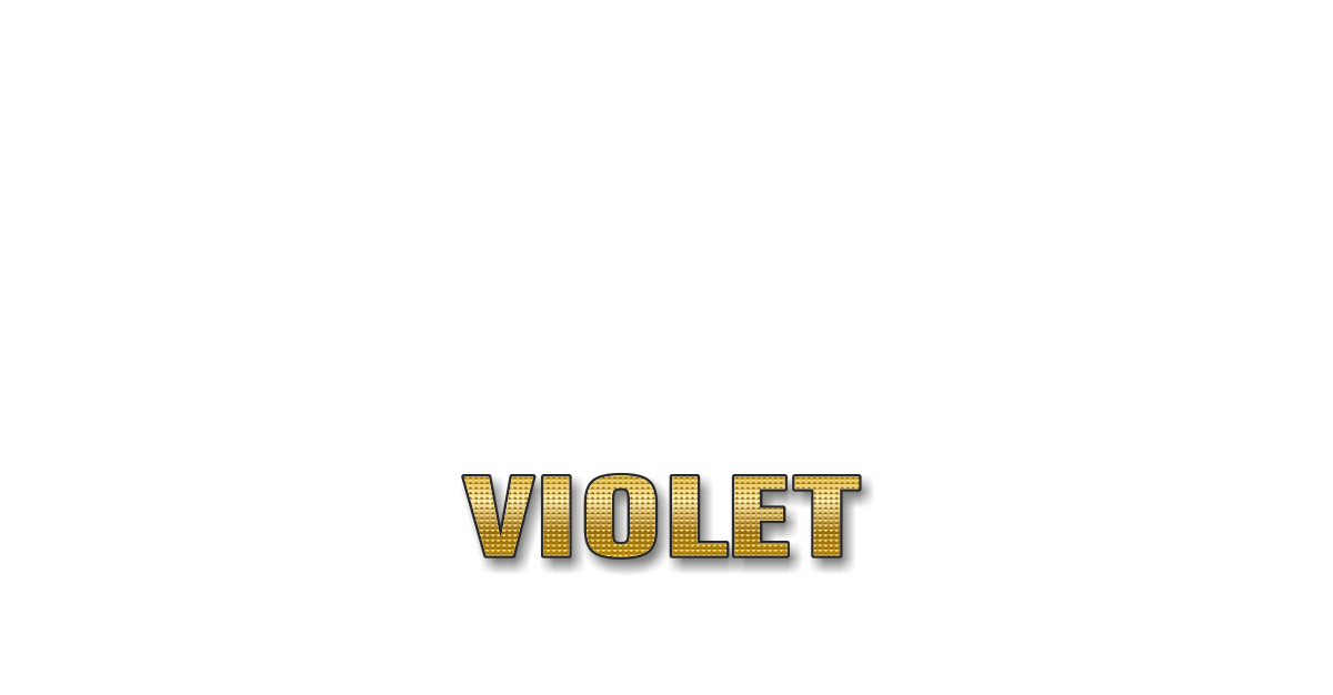 Happy Birthday Violet Personalized Card for celebrating